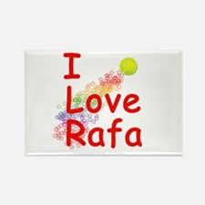 I Love Rafa Rectangle Magnet