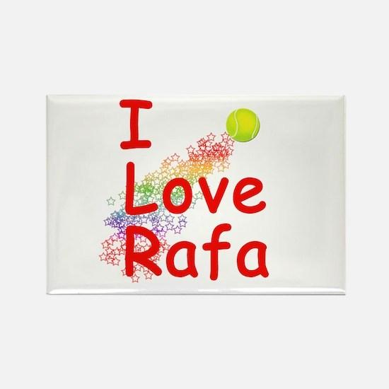 I Love Rafa Rectangle Magnet