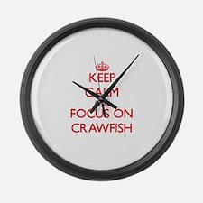 Unique Crawfish Large Wall Clock