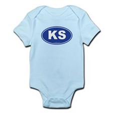 Kansas KS Euro Oval Infant Bodysuit