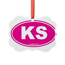 Kansas KS Euro Oval Ornament