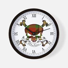 MacGill Tartan Skull Wall Clock