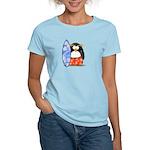 Surfing Macaroni Penguin Women's Light T-Shirt