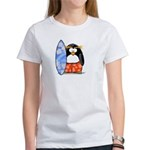 Surfing Macaroni Penguin Women's T-Shirt