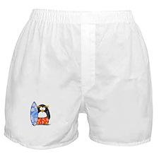 Surfing Macaroni Penguin Boxer Shorts
