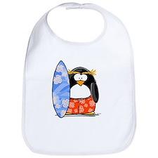 Surfing Macaroni Penguin Bib