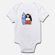 Surfing Macaroni Penguin Infant Bodysuit