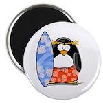 Surfing Macaroni Penguin Magnet