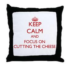 Unique Cheese Throw Pillow