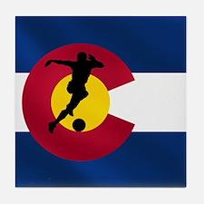 Colorado Soccer Tile Coaster