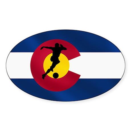 Colorado Soccer Sticker (Oval)