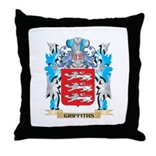 Cute Griffith coat of arms Throw Pillow