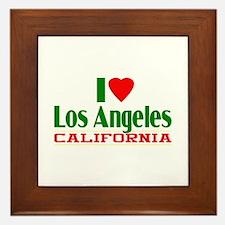 I Love Los Angeles, California Framed Tile