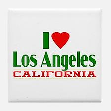 I Love Los Angeles, California Tile Coaster