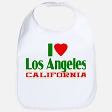 I Love Los Angeles, California Bib