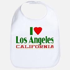 I Love Los Angeles, California Bib