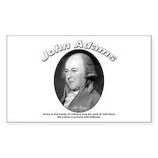 John Adams 05 Rectangle Decal