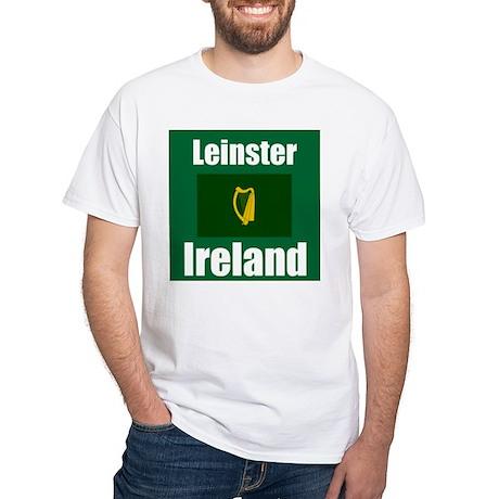 Leinster, Ireland White T-Shirt