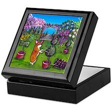 Corgi Master Gardener Keepsake Box