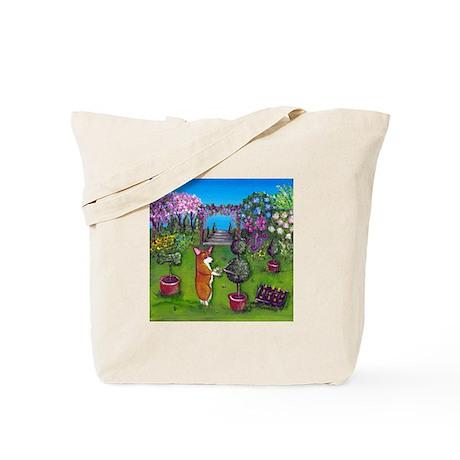 Corgi Master Gardener Tote Bag