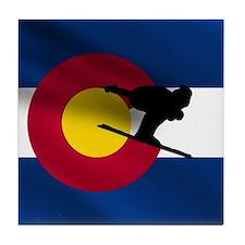 Colorado Skiing Tile Coaster