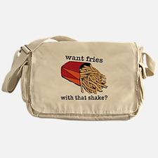 Want Fries? Messenger Bag