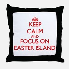 Cute Easter island heads Throw Pillow