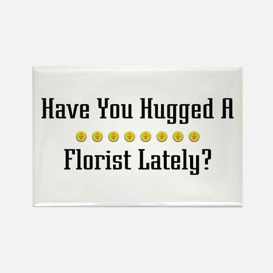 Hugged Florist Rectangle Magnet