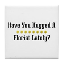 Hugged Florist Tile Coaster