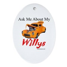 Willys Oval Ornament