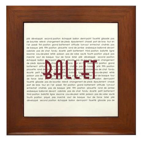Ballet Framed Tile