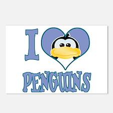 I Love (Heart) Penguins Postcards (Package of 8)