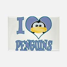 I Love (Heart) Penguins Rectangle Magnet