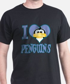 I Love (Heart) Penguins T-Shirt