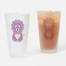 Pink baby lion Drinking Glass