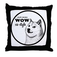Wow SO Style, such Meme Throw Pillow