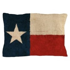 Rustic Republic of Texas Pillow Case