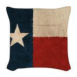 Vintage texas flag casesvintage texas flag Woven Pillows