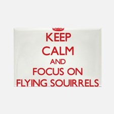 Keep Calm and focus on Flying Squirrels Magnets