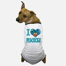 I Love (Heart) Peacocks Dog T-Shirt