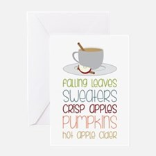 Falling Leaves Sweaters Greeting Cards