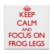 Unique Keep calm frog Tile Coaster