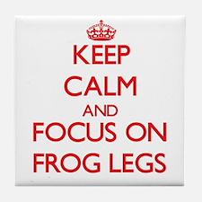 Funny Keep calm frog Tile Coaster