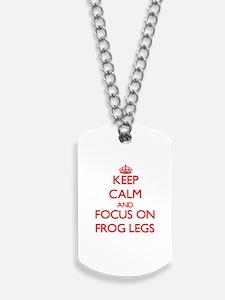 Cool Keep calm frog Dog Tags