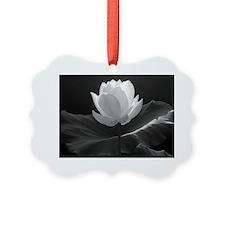 Lotus Flower en Noir Ornament
