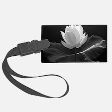 Lotus Flower en Noir Luggage Tag