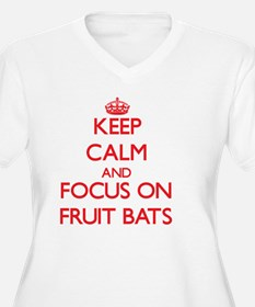 Keep Calm and focus on Fruit Bats Plus Size T-Shir
