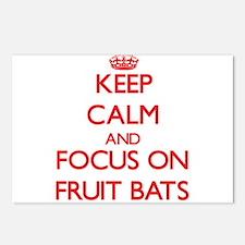 Cute Fruit bats Postcards (Package of 8)