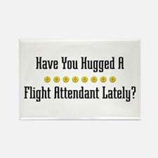 Hugged Flight Attendant Rectangle Magnet