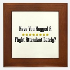 Hugged Flight Attendant Framed Tile